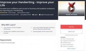 improve your handwriting classes