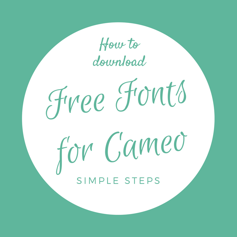 How To Download Free Fonts For Silhouette Cameo