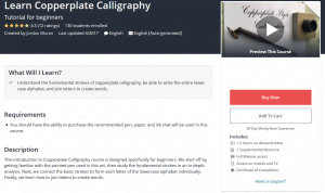 Learn Copperplate Calligraphy online lesson