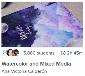 Watercolor and Mixed Media class online
