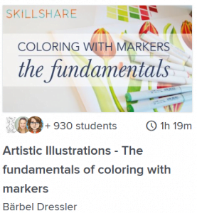 artistic illustrations the fundamentals of coloring with markers lesson online