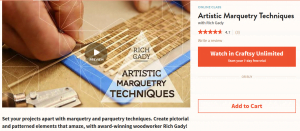 artistic marquetry techniques online class