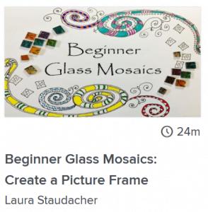 beginner glass mosaics course online