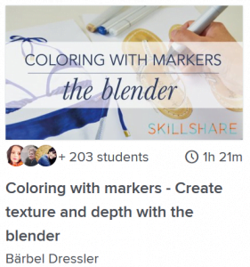 coloring with markers create texture and depth with the blender class online