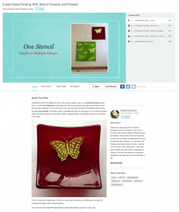 fused glass printing with stencil screens and powder class online