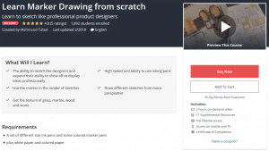 learn marker drawing from scratch online class