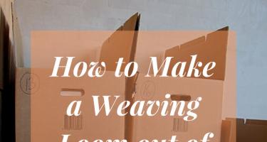 weaving on a cardboard loom instructions