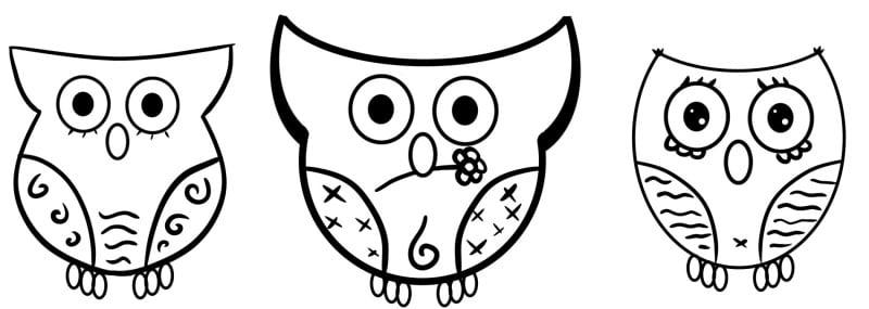 cute cartoon owl drawings