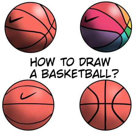 How To Draw A Basketball: Easy Step By Step Tutorial For Kids