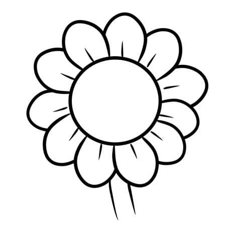 cartoon sunflower step 4