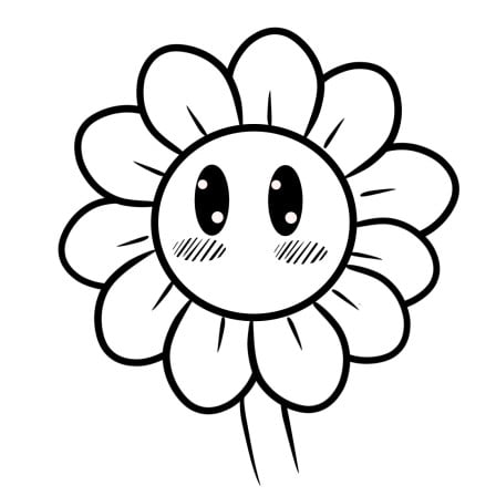 cartoon sunflower step 5-1
