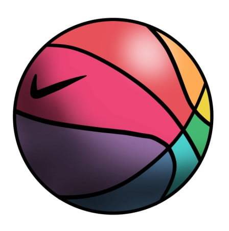 colorful basketball