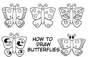 How To Draw A Butterfly: Easy Step By Step Tutorial For Kids