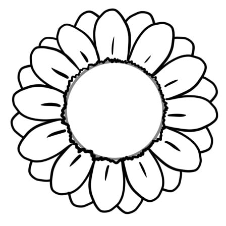 drawing sunflower step 2-2