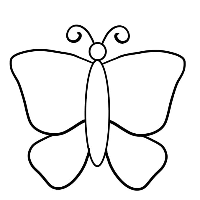 how to draw a butterfly step 3