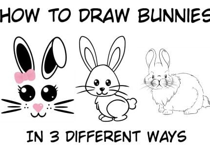 How To Draw A Bunny: Easy Step By Step Tutorial For Kids