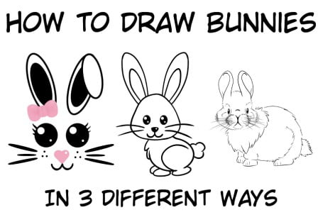 How To Draw A Bunny Step By Step – Easy Tutorial For Kids