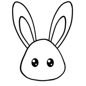how to draw bunny face step 3