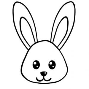 how to draw bunny face step 4