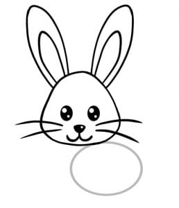 how to draw bunny face step 6