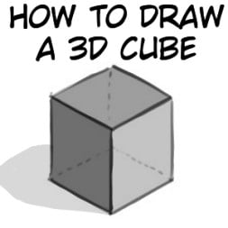How To Draw A 3D Cube From Different Angles