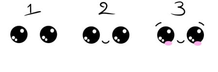 how to draw cute eyes 2