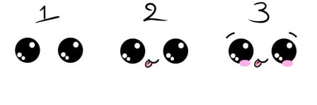 how to draw cute eyes 3