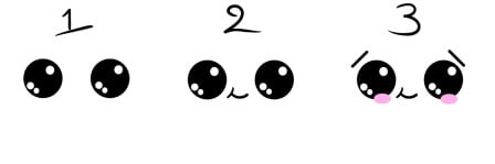 how to draw cute eyes 4