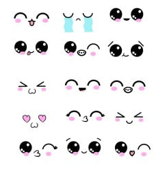 How To Draw Kawaii Eyes And Expressions – 15 Examples