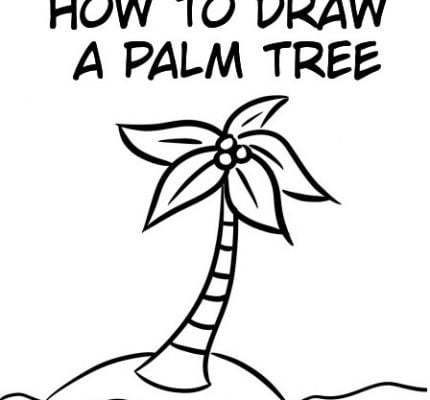 How To Draw Palm Trees: Easy Step By Step Tutorial For Kids