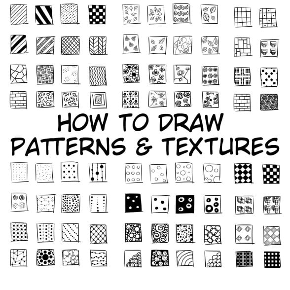 how to draw patterns and textures
