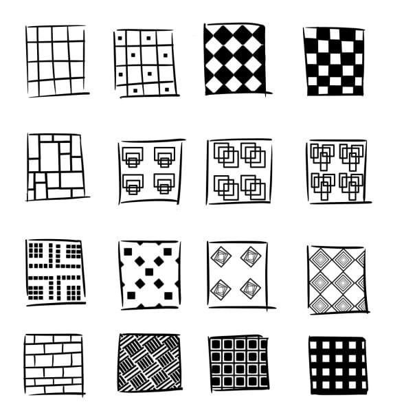 patterns with squares and rectangles