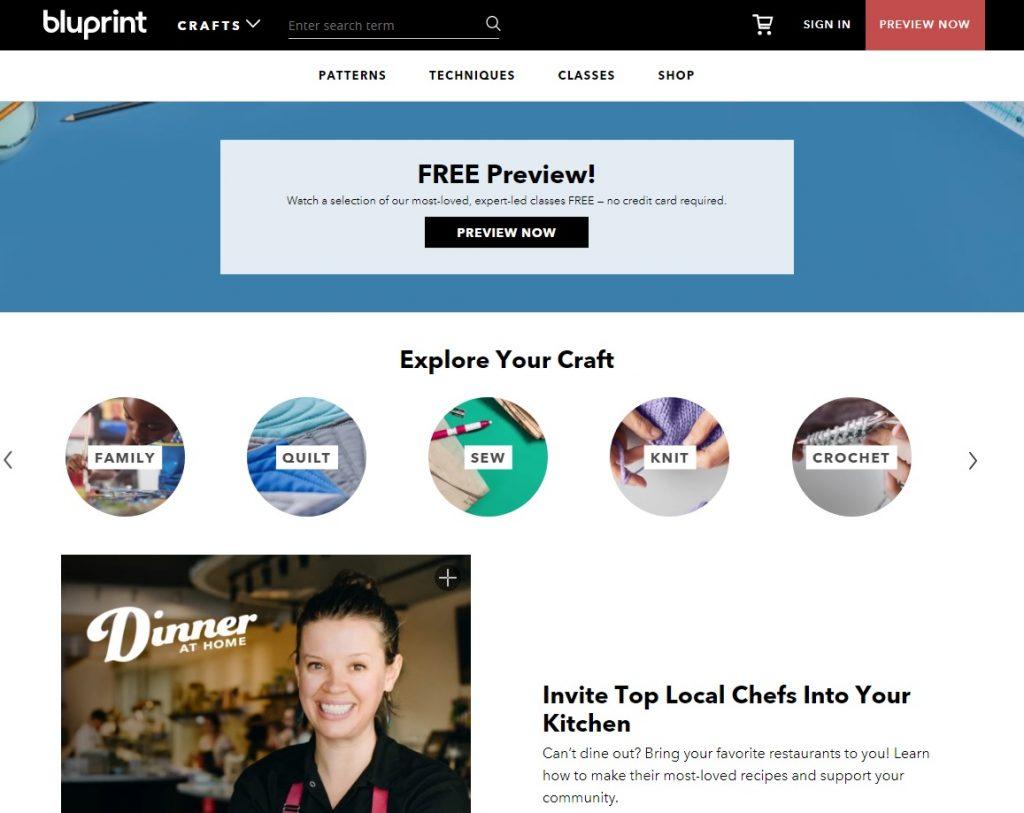 bluprint homepage