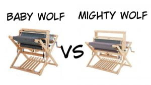 comparison baby wolf and mighty wolf looms