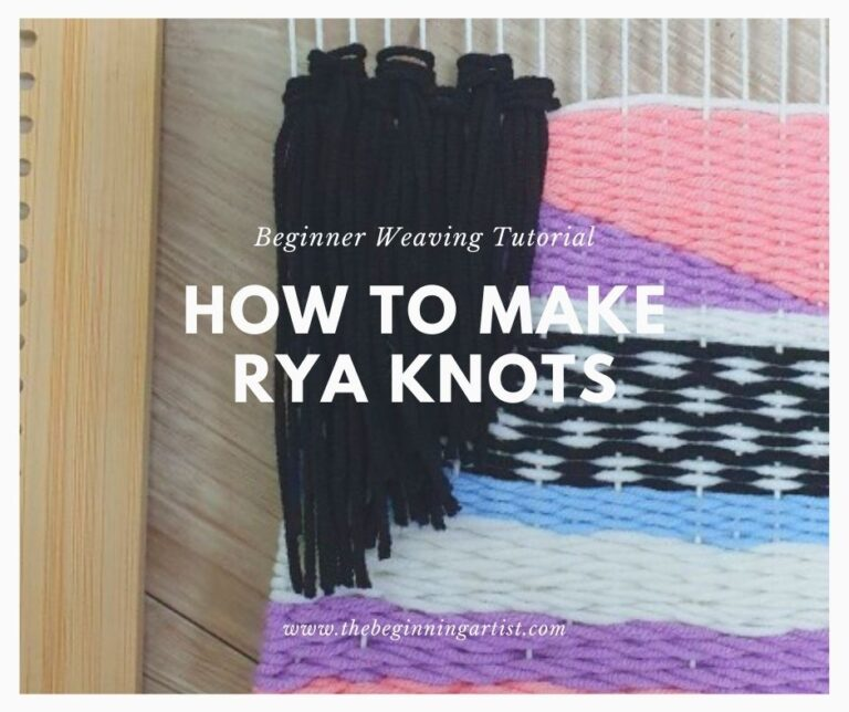 How To Make Rya Knots