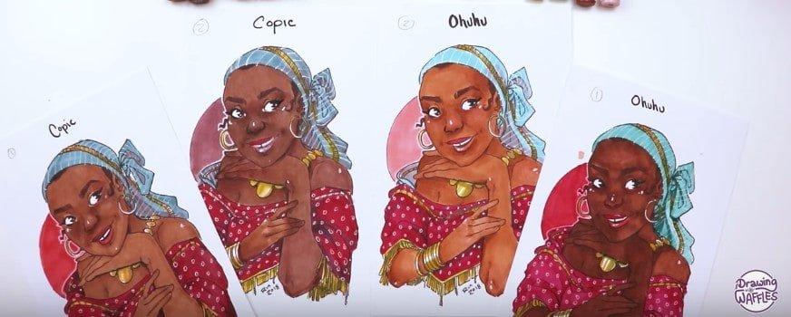 copic vs ohuhu comparison