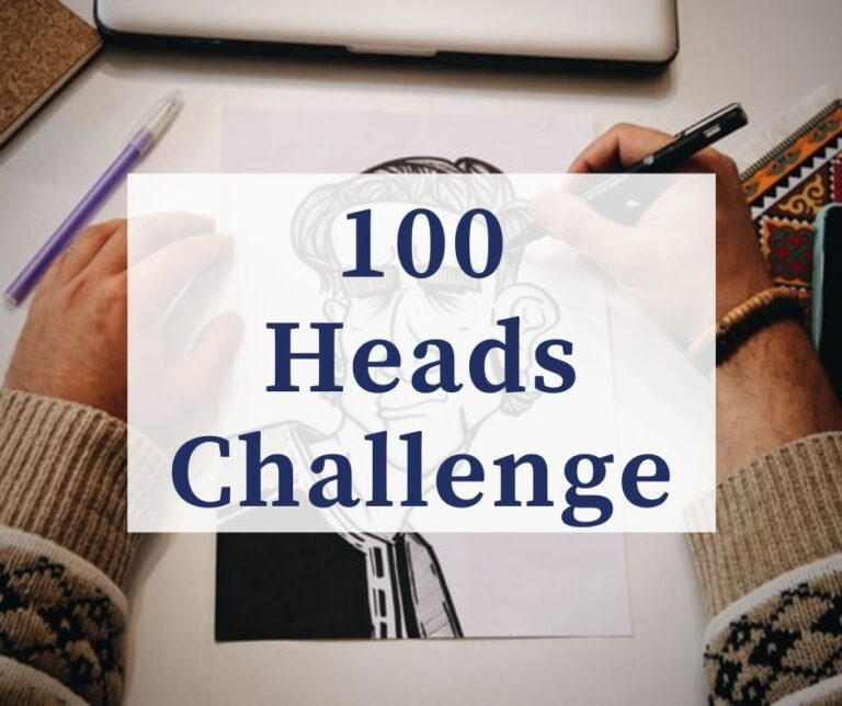 100 Heads Challenge | Become A Better Artist!