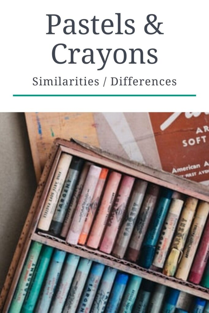 comparing the differences and similarities between oil pastels vs wax crayons
