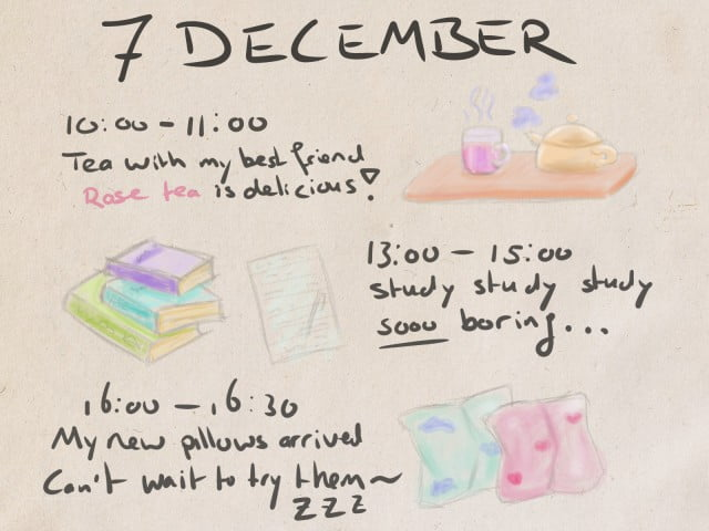 illustrated journaling prompts example