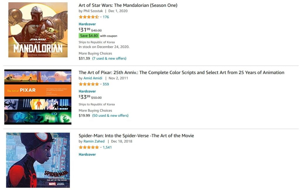 Make money as an artist by selling concept art books on Amazon