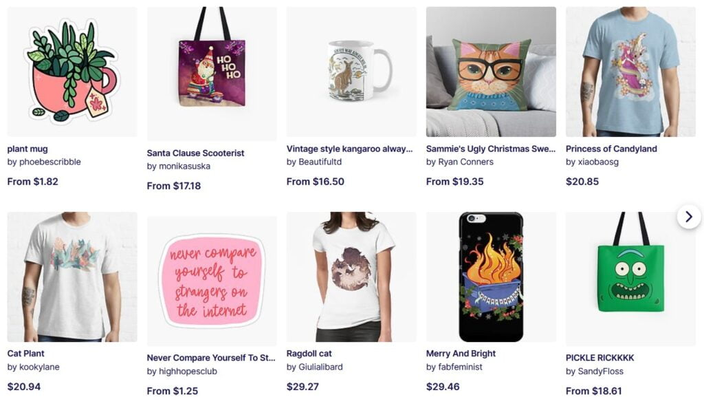 Make money as an artist by selling print on demand merchandise